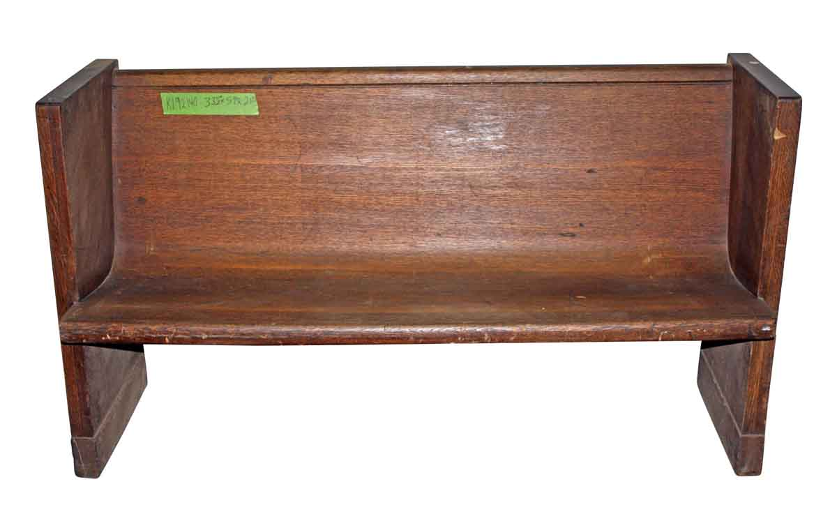 Simple Wooden Pew