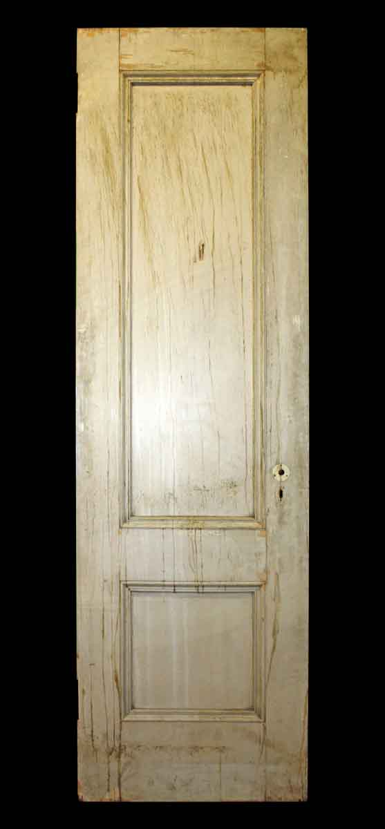 Double Vertical Panel Door with Crackle Paint