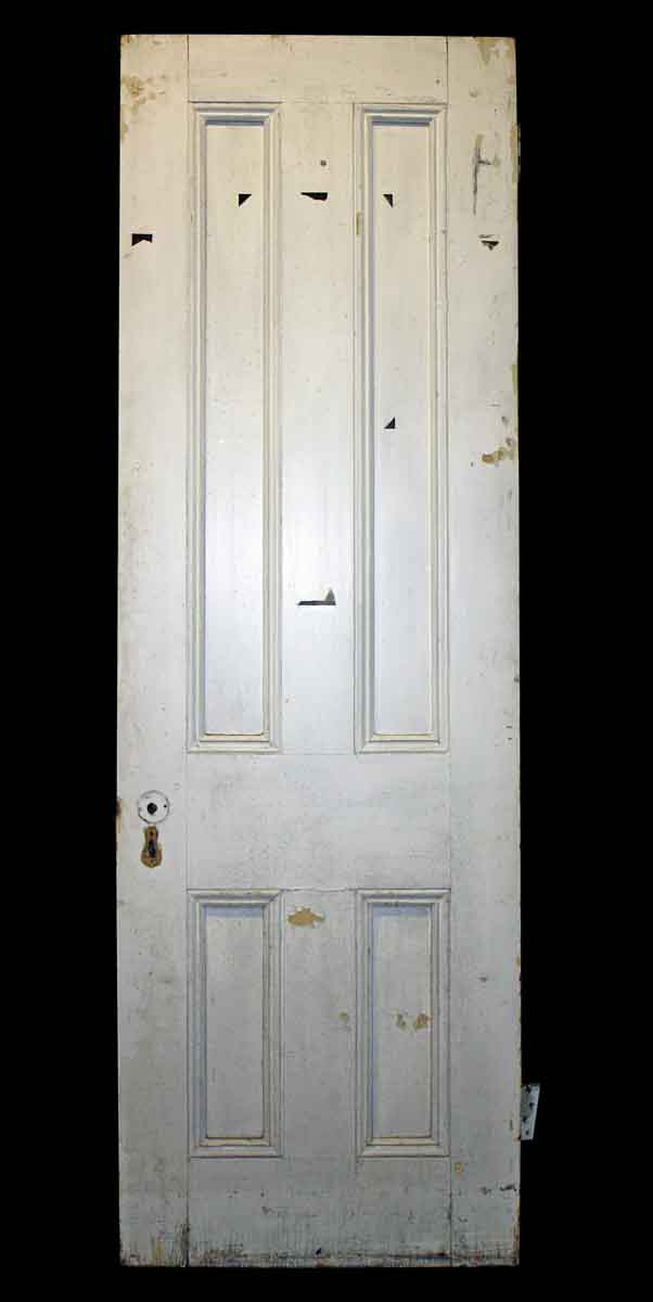 Four Recessed Panel Door with Double Edge Mulion