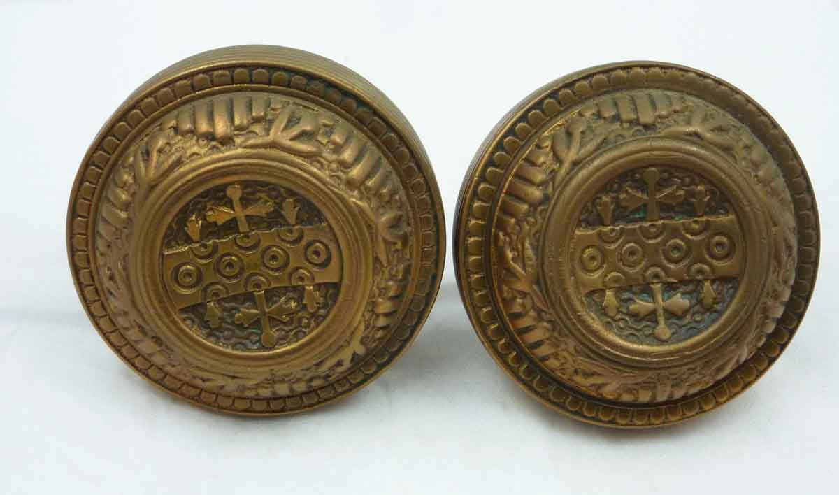 Doorknob Set with Sunken Center Design