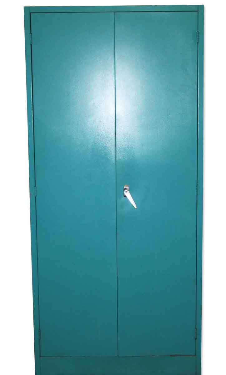 Teal Blue Metal Storage Cabinet