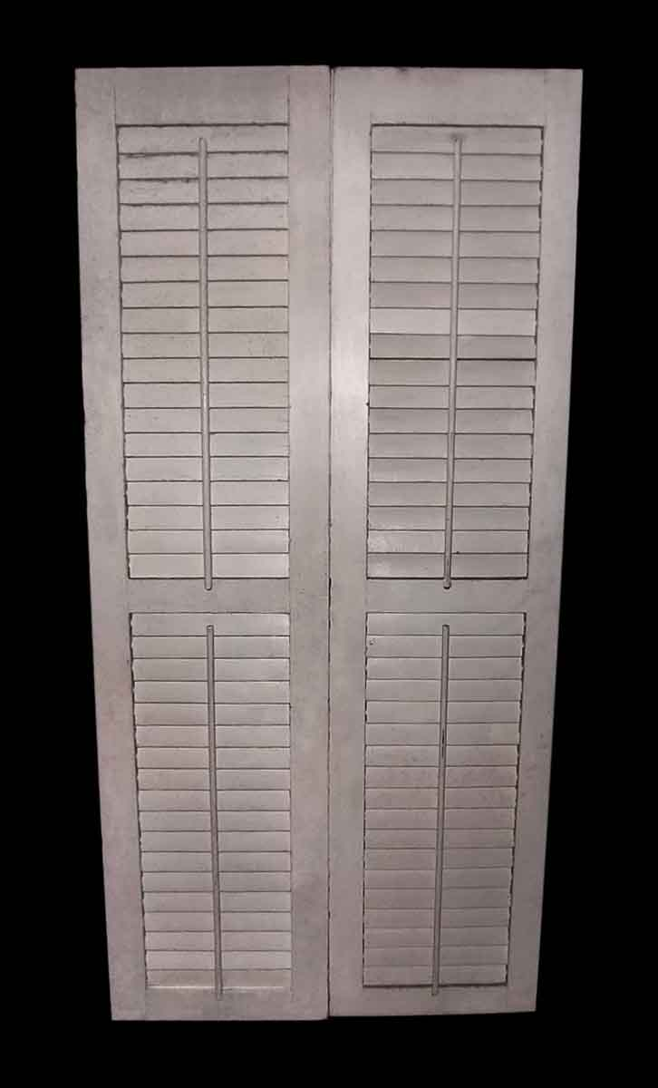 Double Closet Door with Louvers