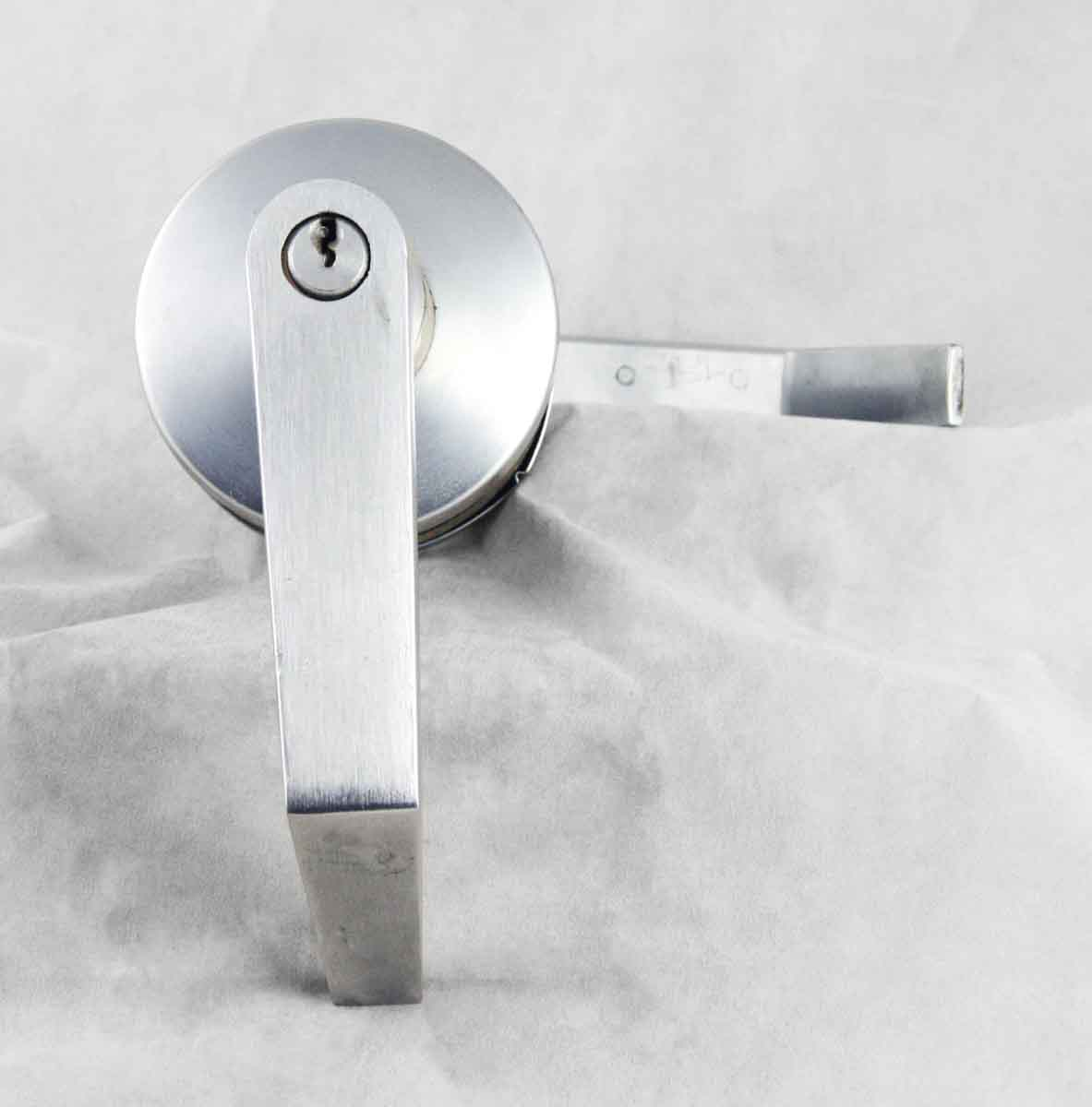 Brushed Steel Lever with Lock
