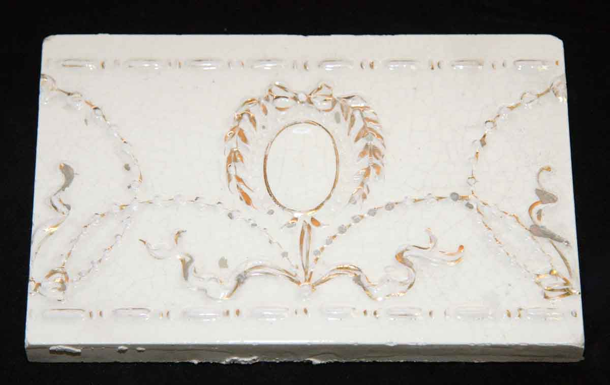 White and Gold Decorative Tile