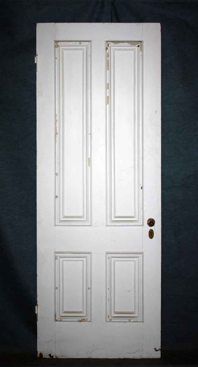 Four Panel Wood Door with Hardware