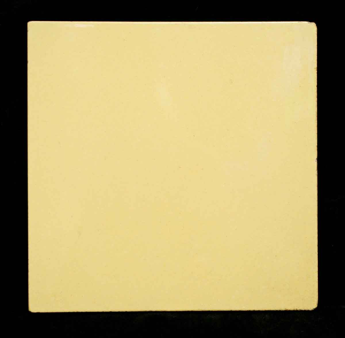 Salvaged Pale Yellow Tile