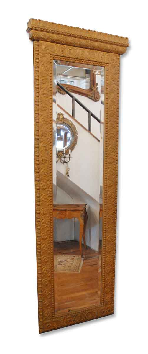Gilded Pier Mirror with Marble Shelved Base