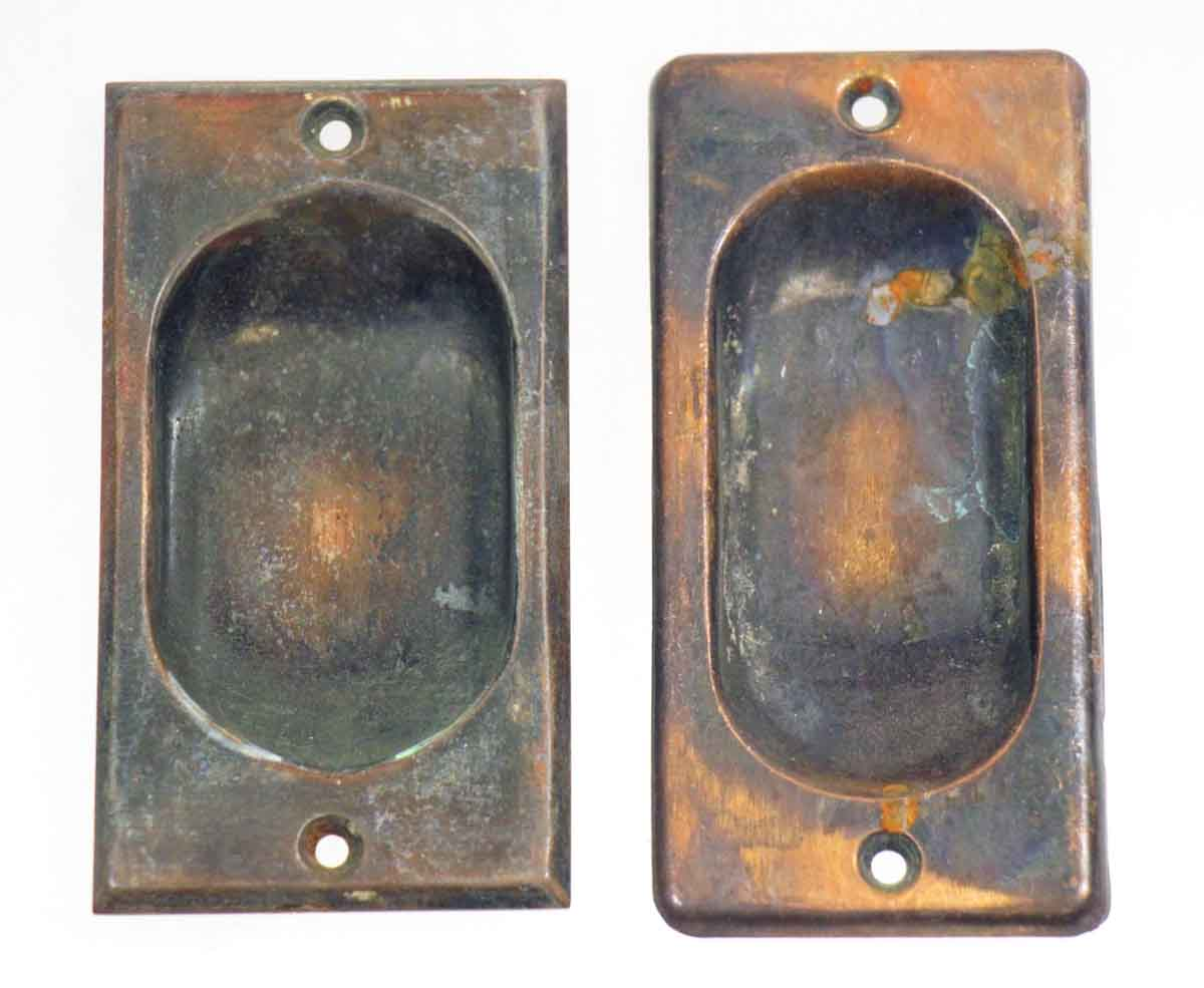 Pair of Bronze Sash Lifts