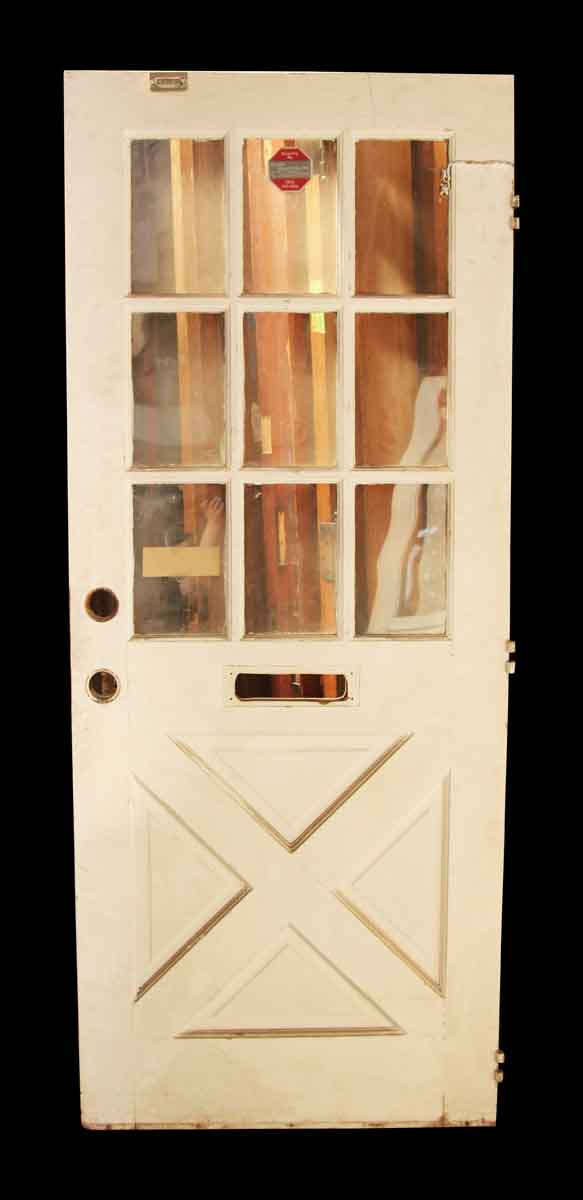White Entry Door with Divided Lights