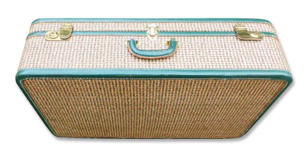 1950s Tweed Suitcase