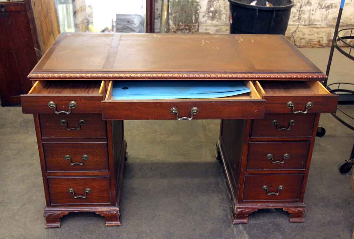 Very Impressive portraiture of Wooden Desk with Eight Drawers Olde Good Things with #1186BA color and 1200x809 pixels