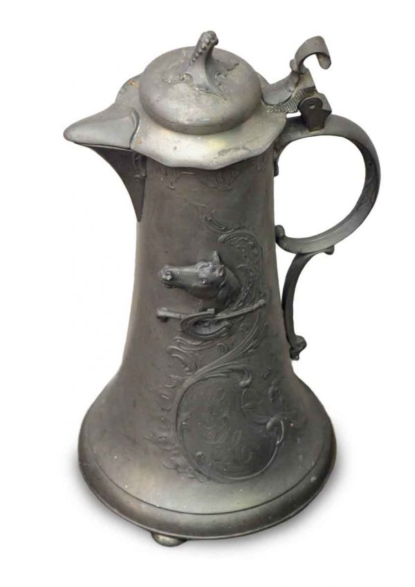 Horse Pewter Pitcher