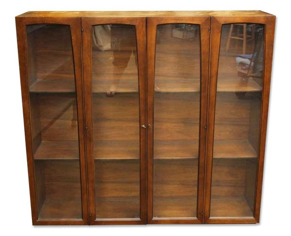 Wooden Chest with Glass Doors