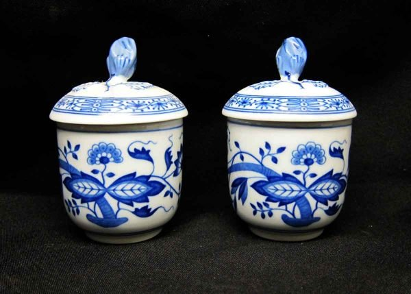 Hutschen Reuther Blue Onion Small Sugar Holders