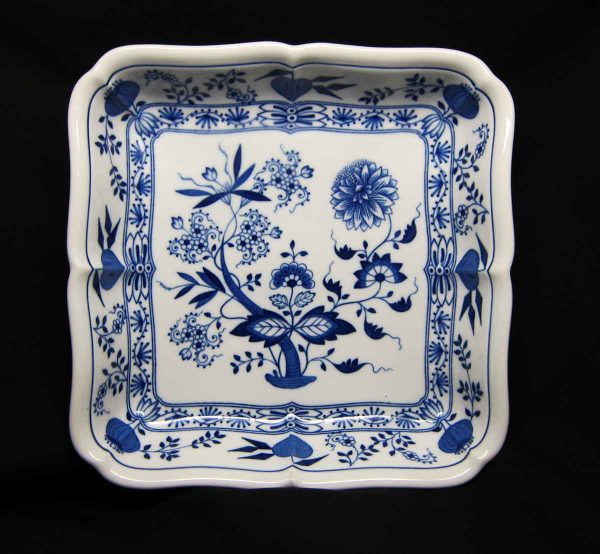 Hutschen Reuther Blue Onion Large Square Vegetable Bowl