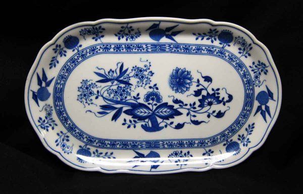 Hutschen Reuther Blue Onion Oval Dish