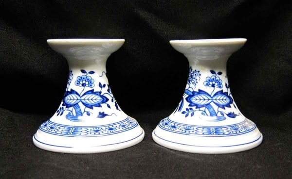 Hutschen Reuther Blue Onion Pair Candle Holders