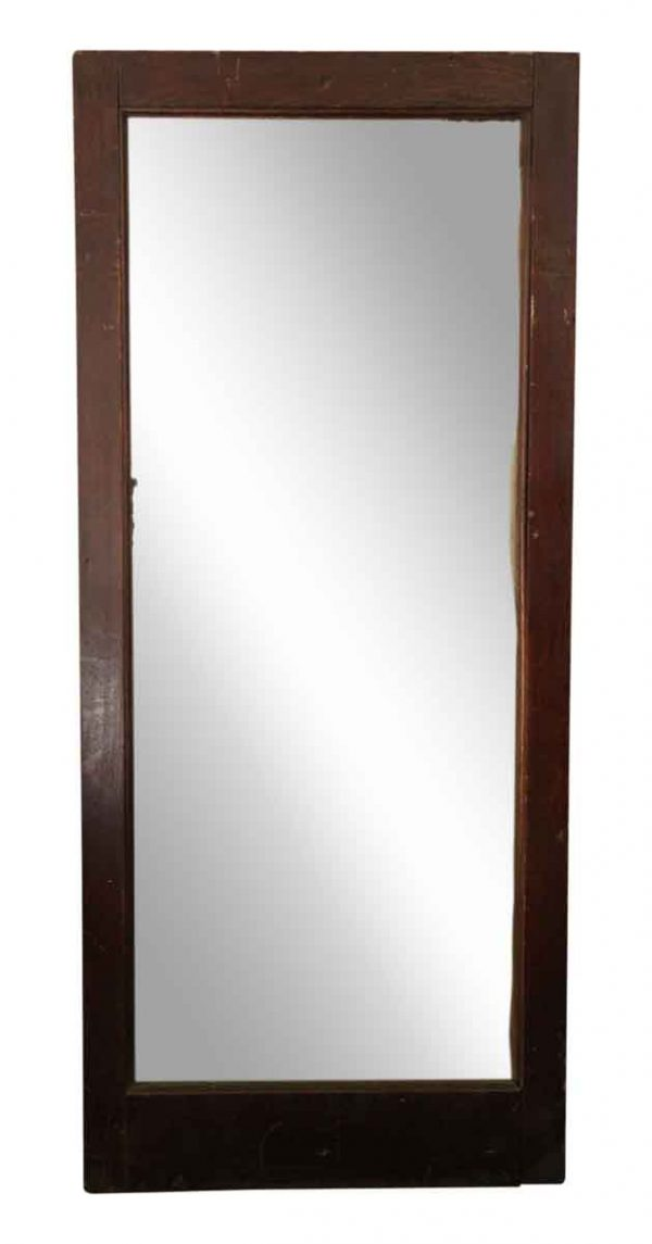 Vintage Varnished Wood Mirror