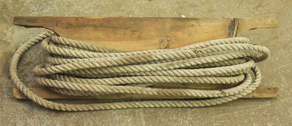 Wooden Slab with Rope