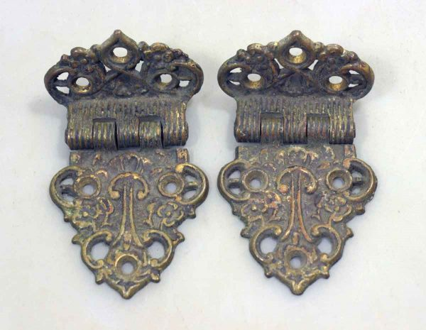 Pair of Brass Ice Box Hinges