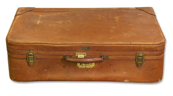 Weathered Leather Suit Case