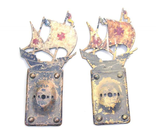 Pair of Ship Sconce Back Plates