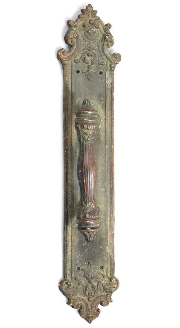 Victorian Ornate Solid Bronze Door Pull