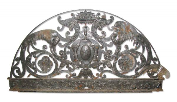 Ornate Hand Crafted Metal Door Transom Makes Great Headboard