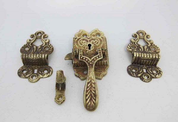 Set of Two Vintage Ice Box Hinges & Latches