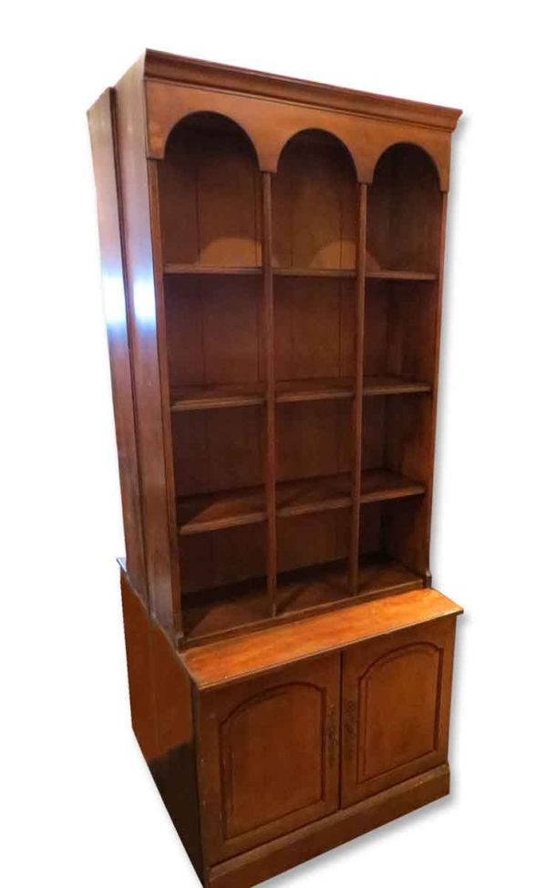 Walnut Arched Bookcase