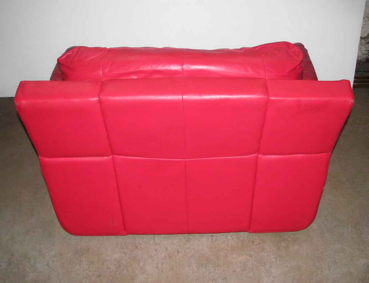 Red Leather Couch & Chair Set