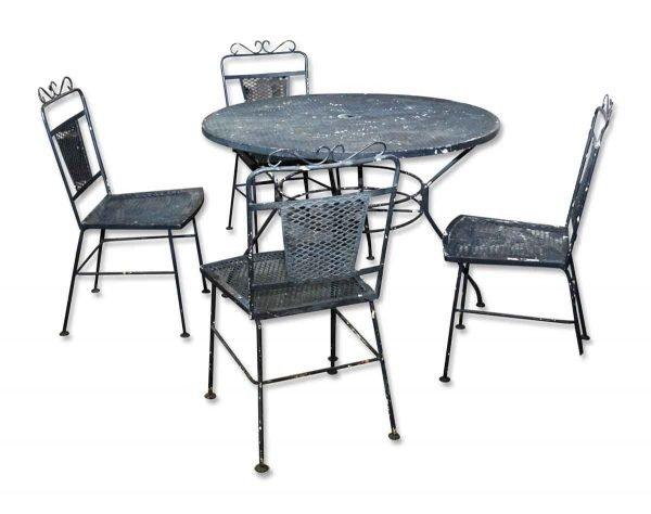Outdoor Patio Set with Table & Four Chairs