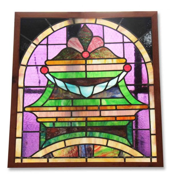 Bright Multi Colored Stained Glass Window