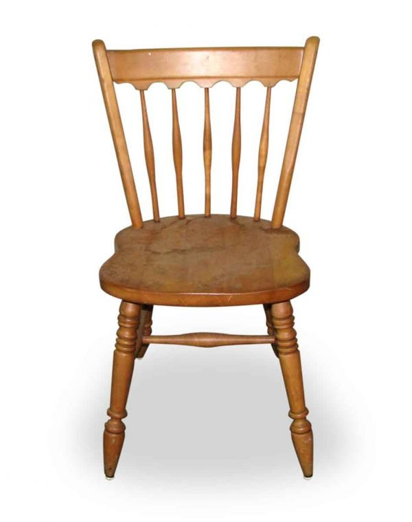 Simple Wooden Spindle Back Chair