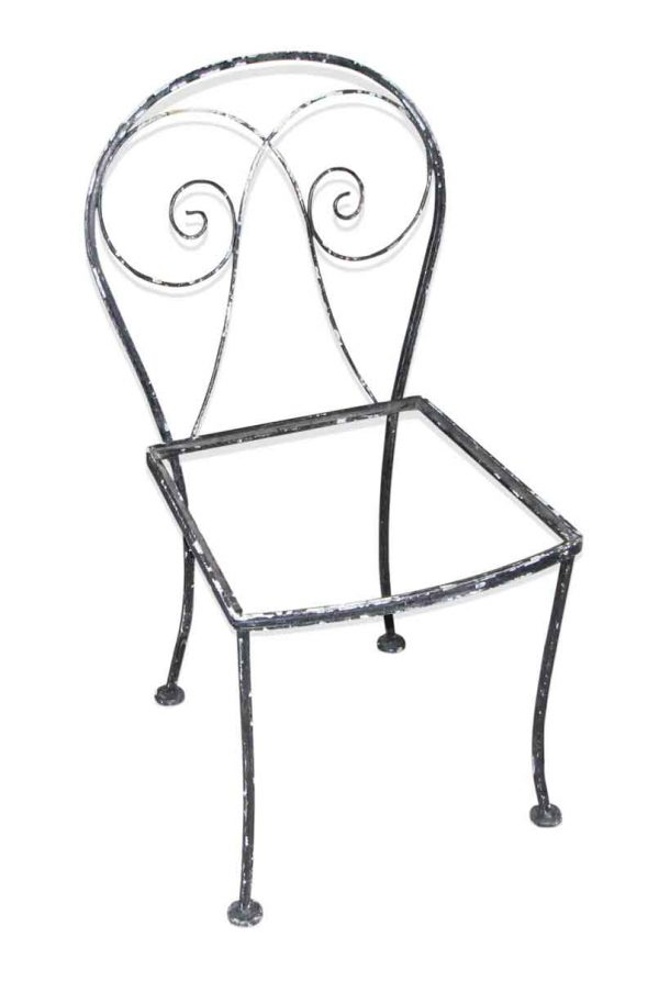 Black Iron Patio Chair Set