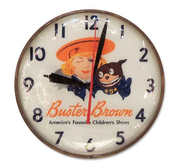 Vintage Buster Brown Clock