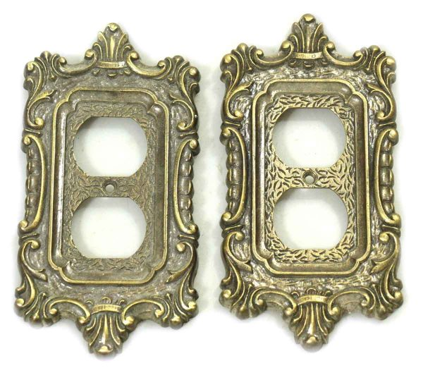 Pair of Ornate Outlet Covers