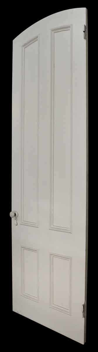 Four Paneled White Door with Arch At Top