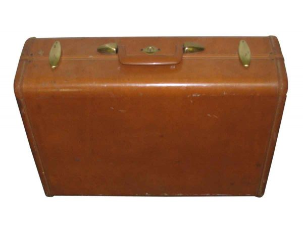 All Leather with Brass Buckle Vintage Briefcase
