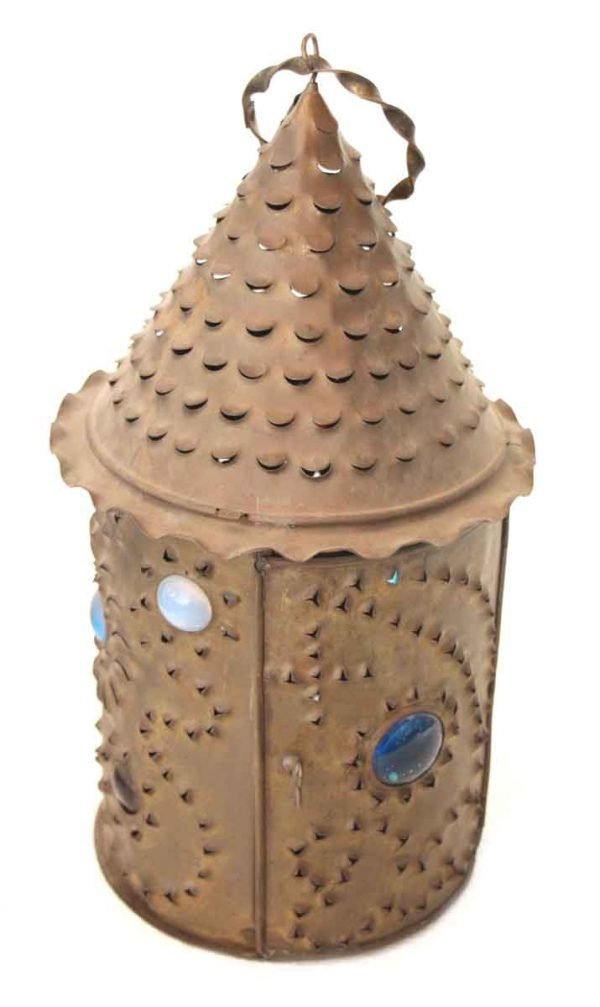 Bradley & Hubbard Primitive Candle Lantern with Jewels