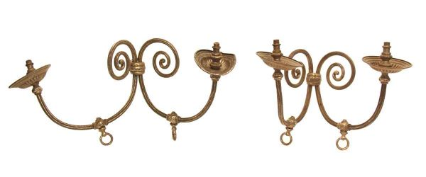 Pair of Sliver Plated Double Arm Sconces