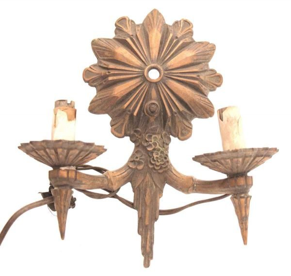 Bronze Floral Two Arm Sconce
