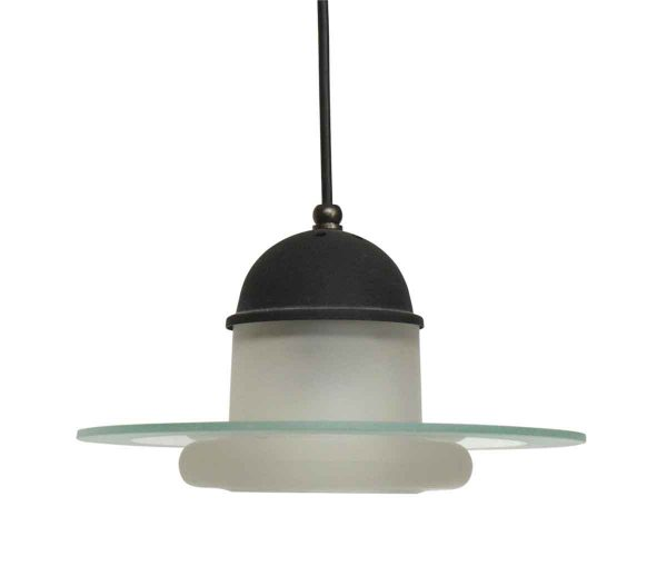 Modern Pendant Disk Light with Glass Shade