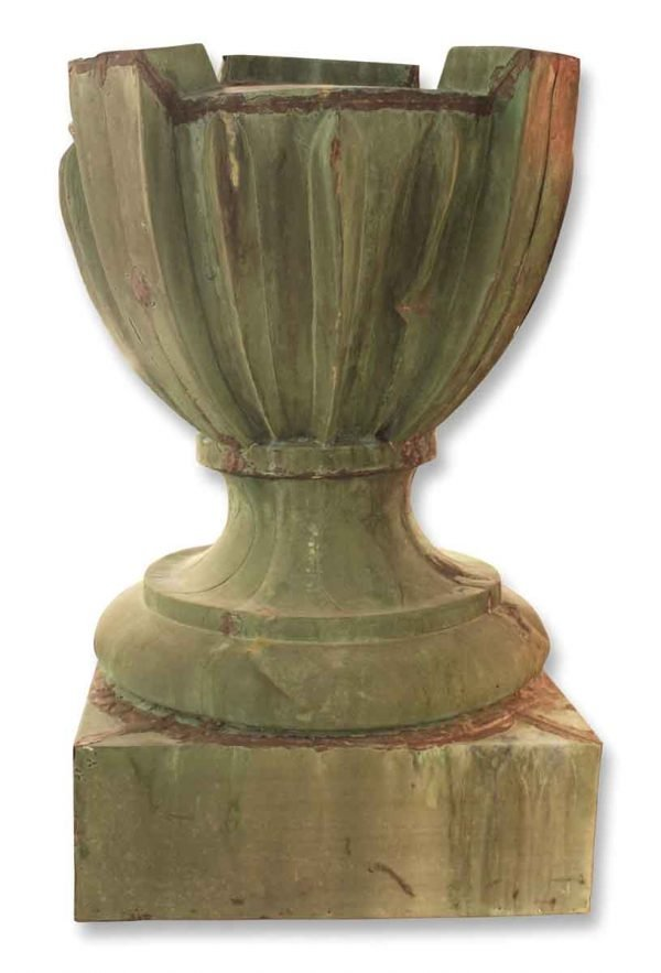 Pair of Large Copper Urn Finials