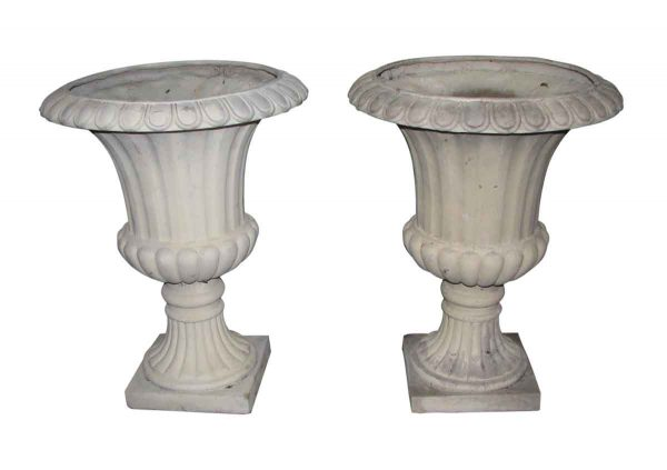 French Style Fluted Garden Urns