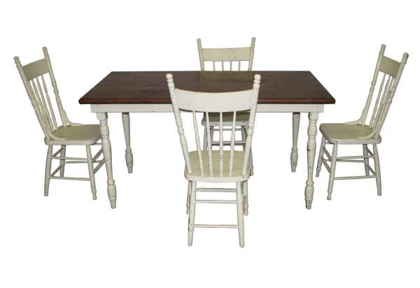 Vintage Country Table Set with Chairs