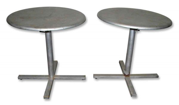 Round Metal Adjustable Table