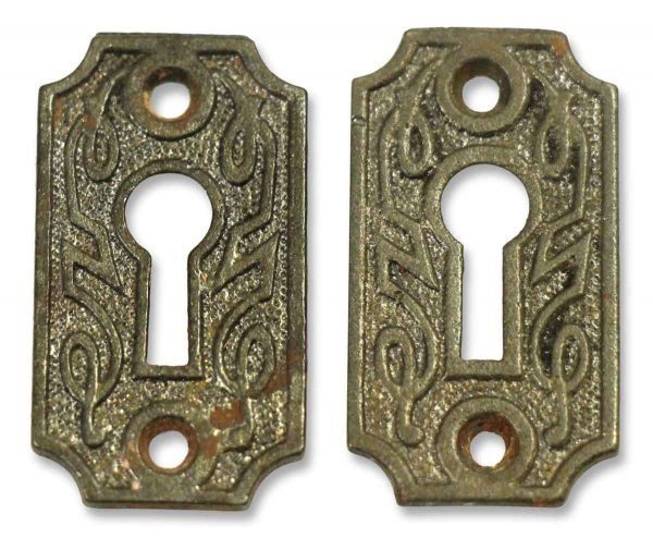 Pair of Ornate Iron Key Hole Covers