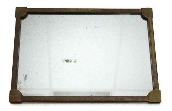 Antique Bronze Frame Mirror with Distressed Glass