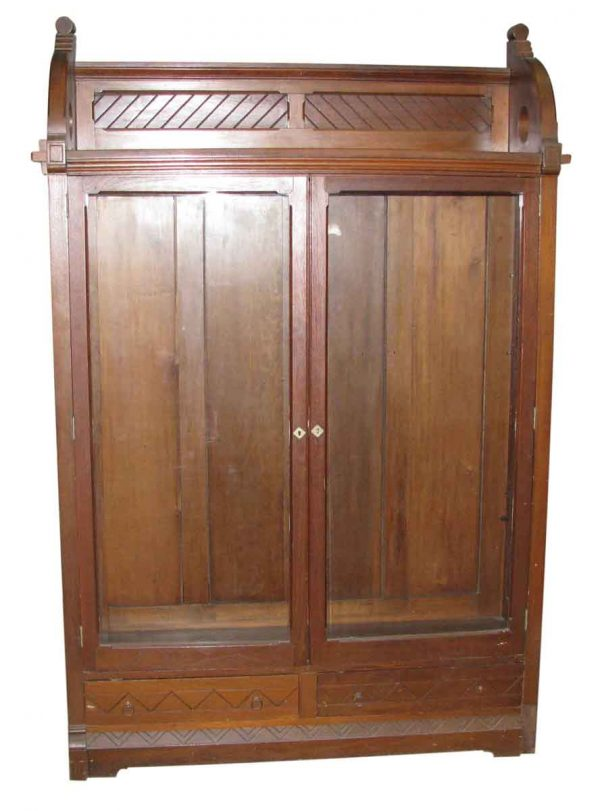 Pair of Cherry Eastlake Cabinets